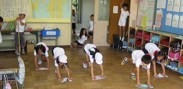 japanese school cleaning